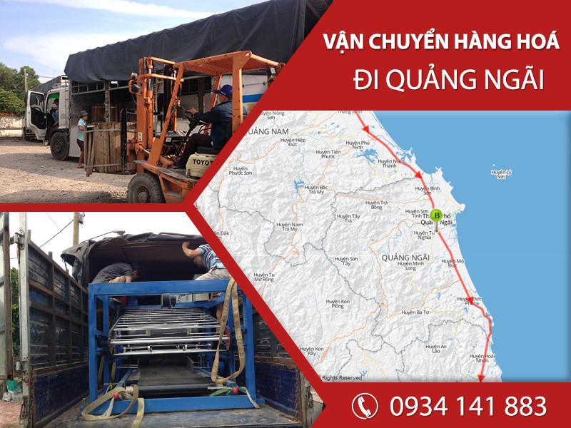 Chành xe tải ghép hàng vận chuyển đi Quảng Ngãi giá rẻ